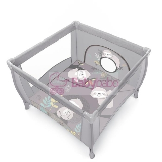 BABY DESIGN - detská ohrádka PLAY NEW 2020, col. 07 light gray
