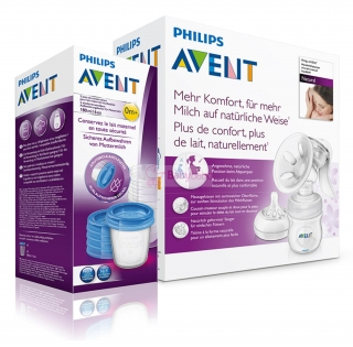 AVENT - odsávačka mlieka Natural + 5ks VIA 180ml